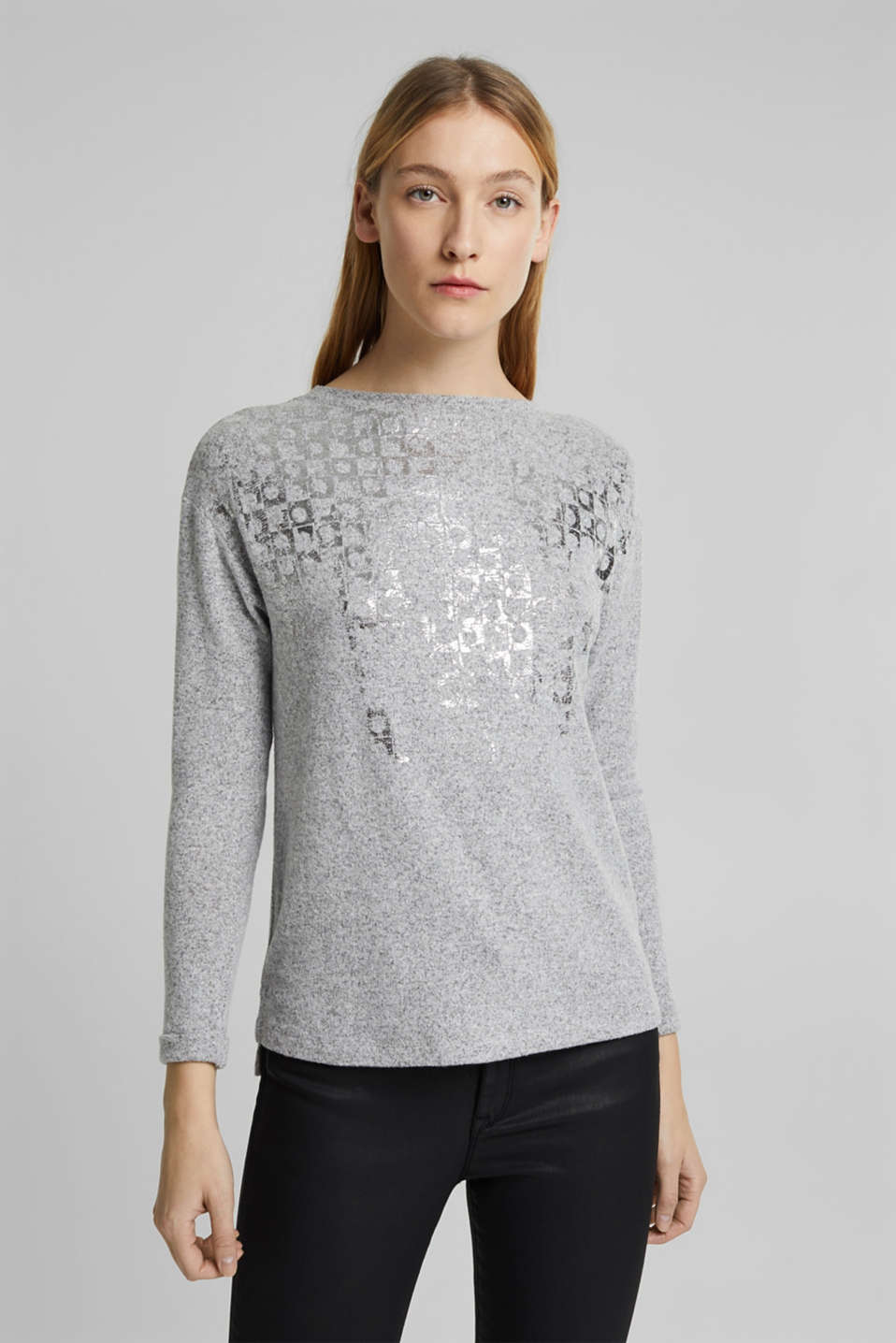 Esprit - Long sleeve top made of LENZING™ ECOVERO™