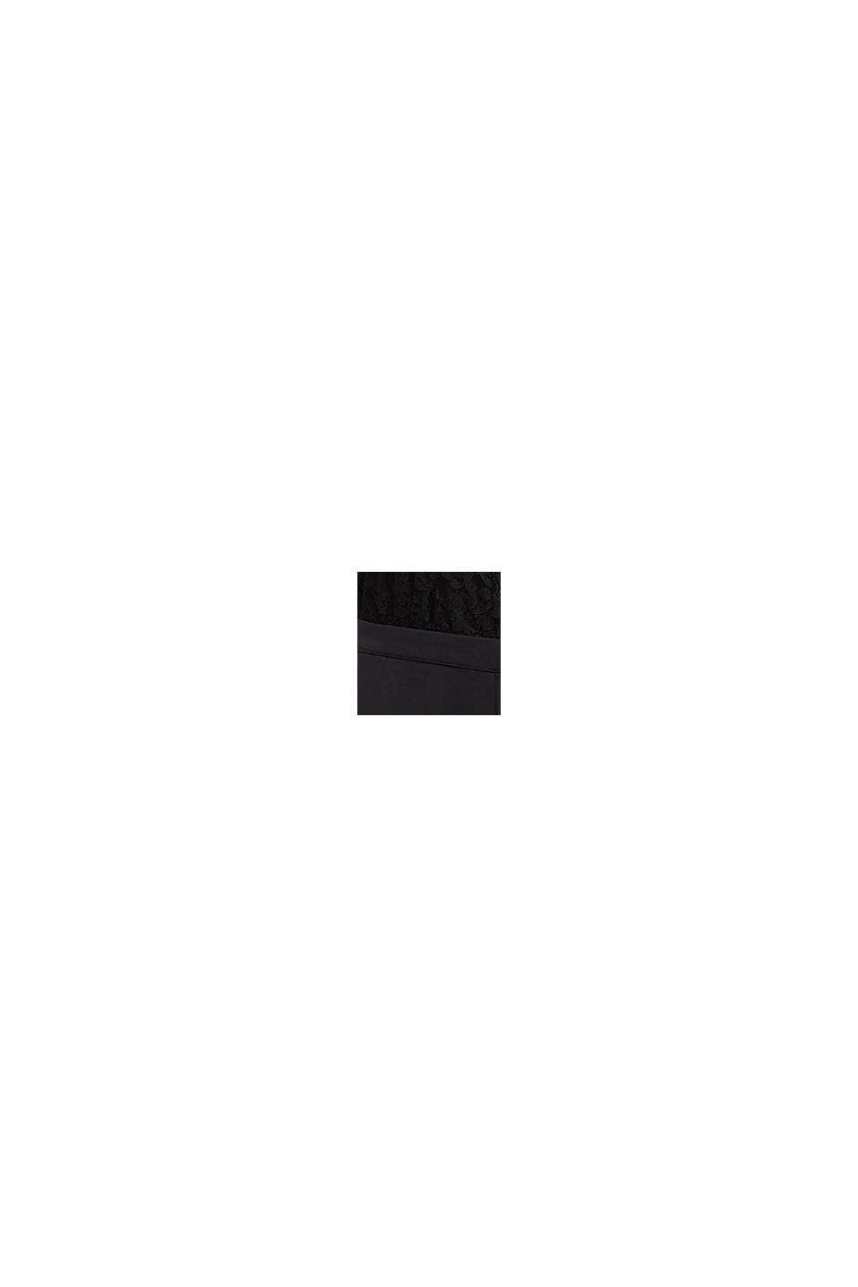 Jersey-jumpsuit med blonder, BLACK, swatch