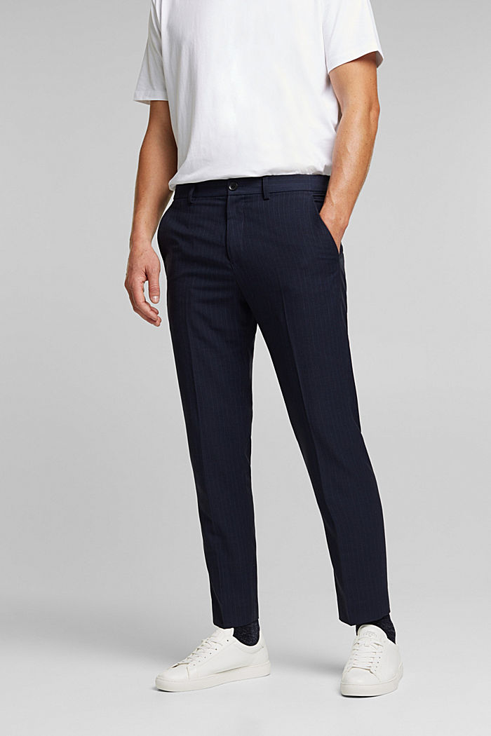 PINSTRIPE Mix + Match: Hose, DARK BLUE, overview