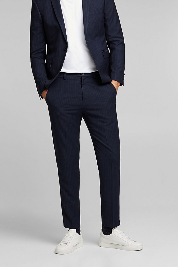 PINSTRIPE Mix + Match: trousers, DARK BLUE, detail image number 4