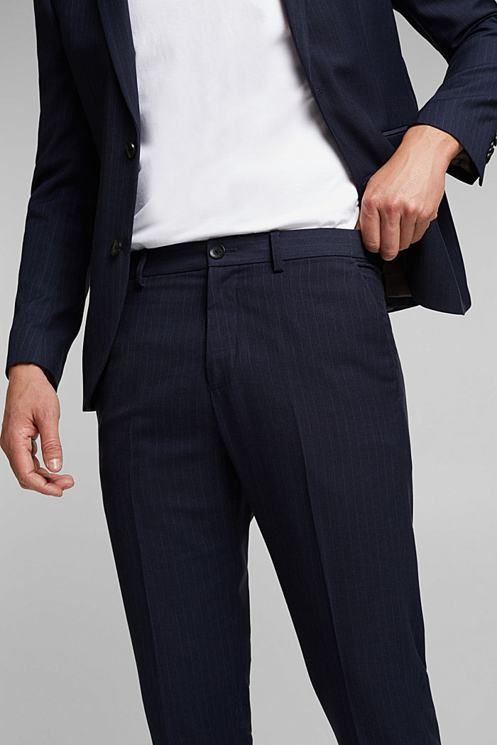 PINSTRIPE Mix + Match: trousers, DARK BLUE, detail image number 3