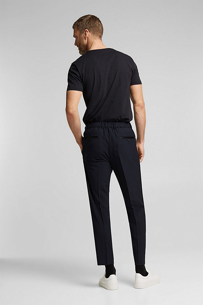 ACTIVE JOGG SUIT tuxedo trousers made of blended wool, DARK BLUE, detail image number 1
