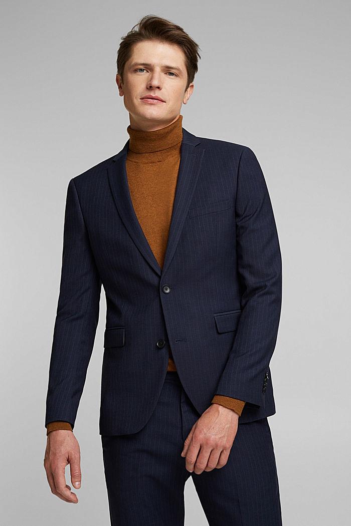 PINSTRIPE Mix + Match: sports jacket, DARK BLUE, detail image number 0