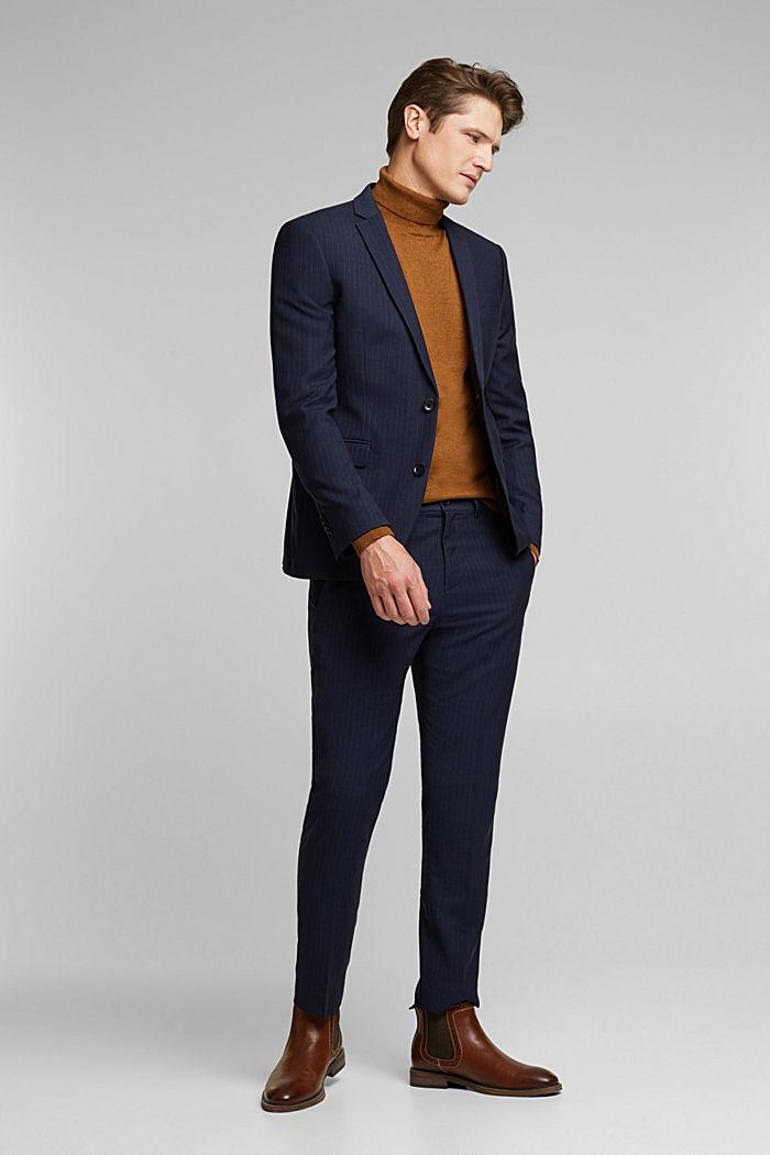PINSTRIPE Mix + Match: sports jacket, DARK BLUE, detail image number 1