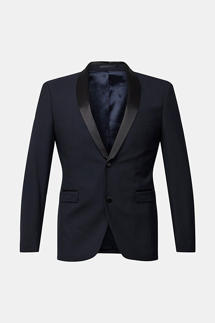 ACTIVE JOGG SUIT dinner jacket made of blended wool, DARK BLUE, detail image number 5