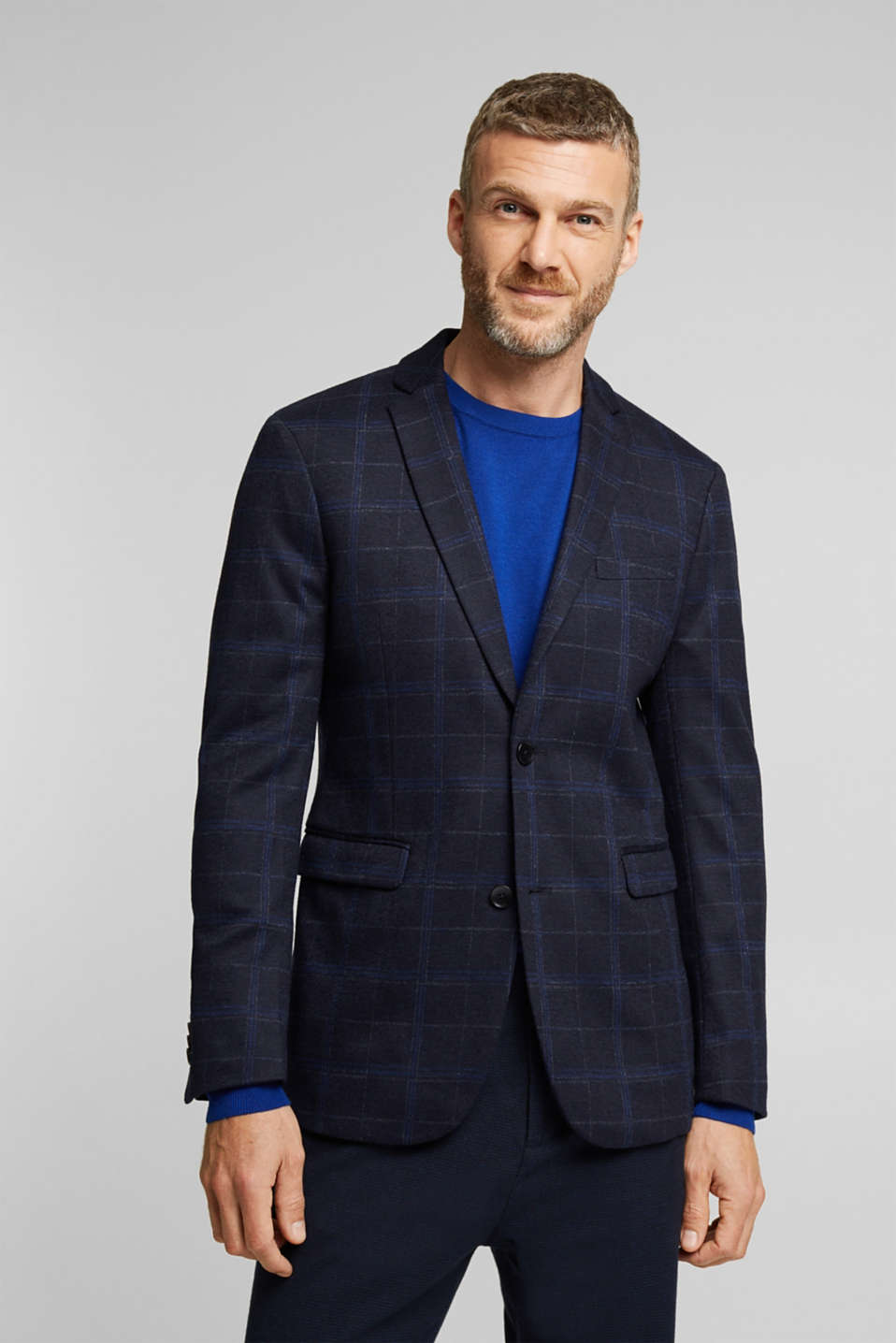 Esprit - knit check blazer