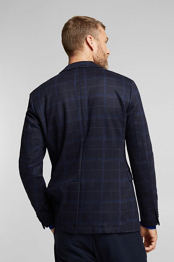 Wool blend: check jacket, DARK BLUE, detail image number 3