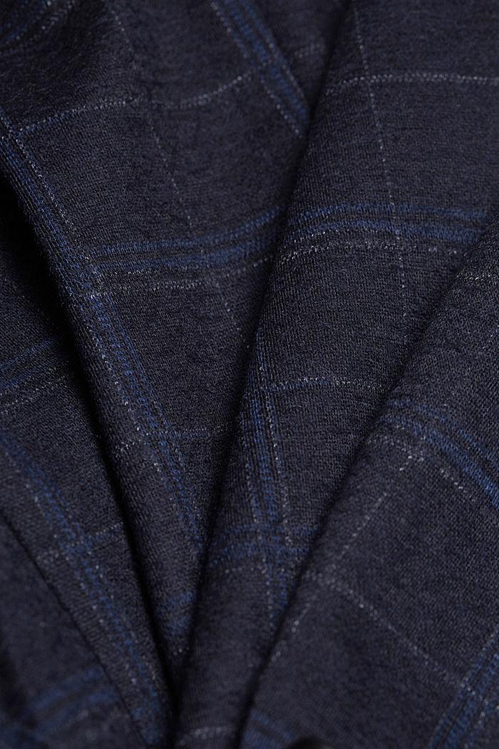 Wool blend: check jacket, DARK BLUE, detail image number 5