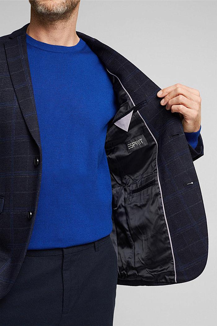Wool blend: check jacket, DARK BLUE, detail image number 6