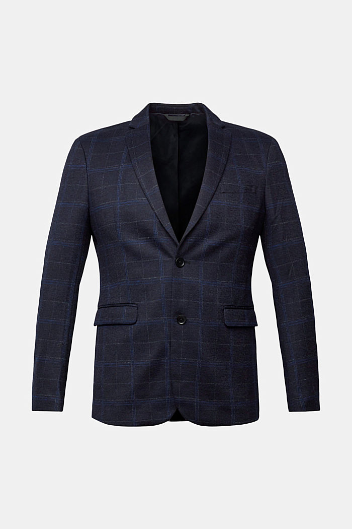 Wool blend: check jacket
