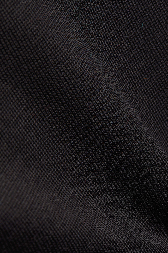 100% wool jumper with a stand-up collar, BLACK, detail image number 4