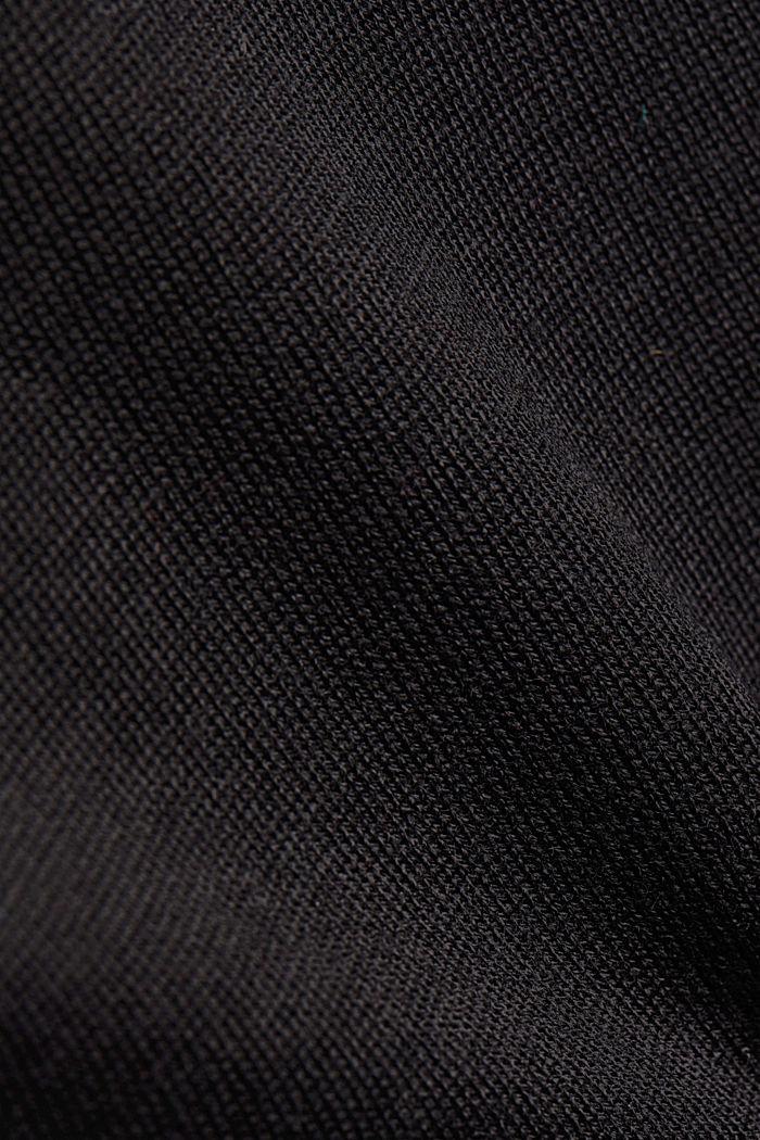Stehkragen-Pullover aus 100% Wolle, BLACK, detail image number 4