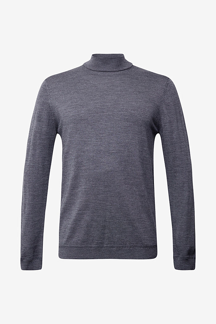 100% wool jumper with a stand-up collar