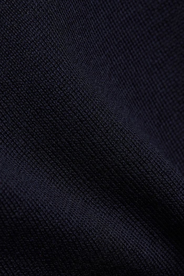100% wool jumper with a stand-up collar, NAVY, detail image number 4