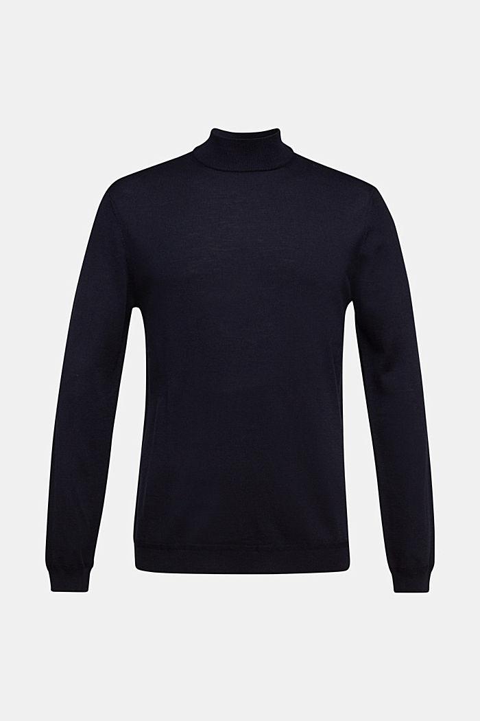 Stehkragen-Pullover aus 100% Wolle