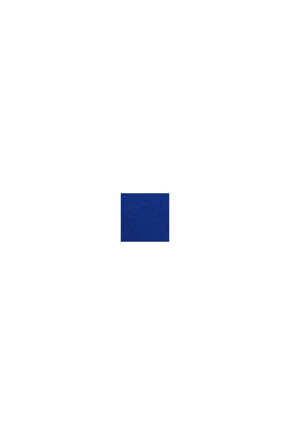 Trui met opstaande kraag, van 100% wol, BRIGHT BLUE, swatch