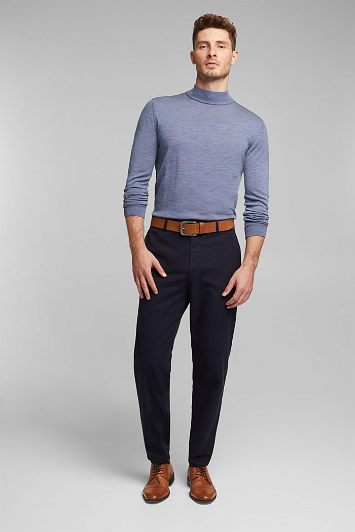 100% wool jumper with a stand-up collar, BLUE LAVENDER, detail image number 6