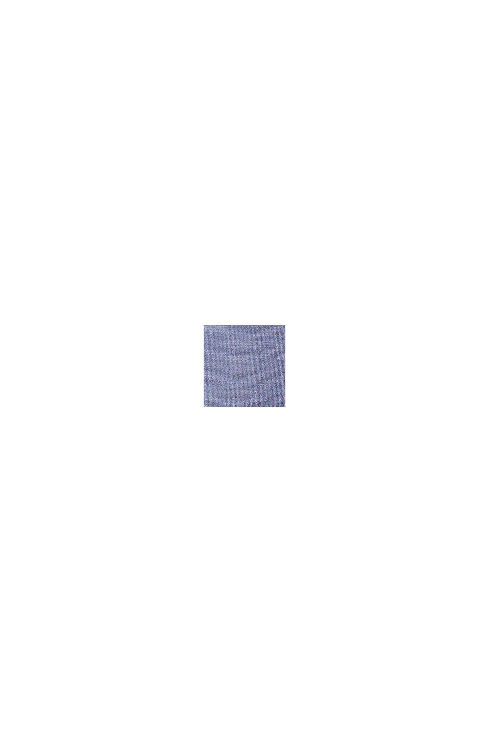 Pull-over à col droit, 100% laine, BLUE LAVENDER, swatch