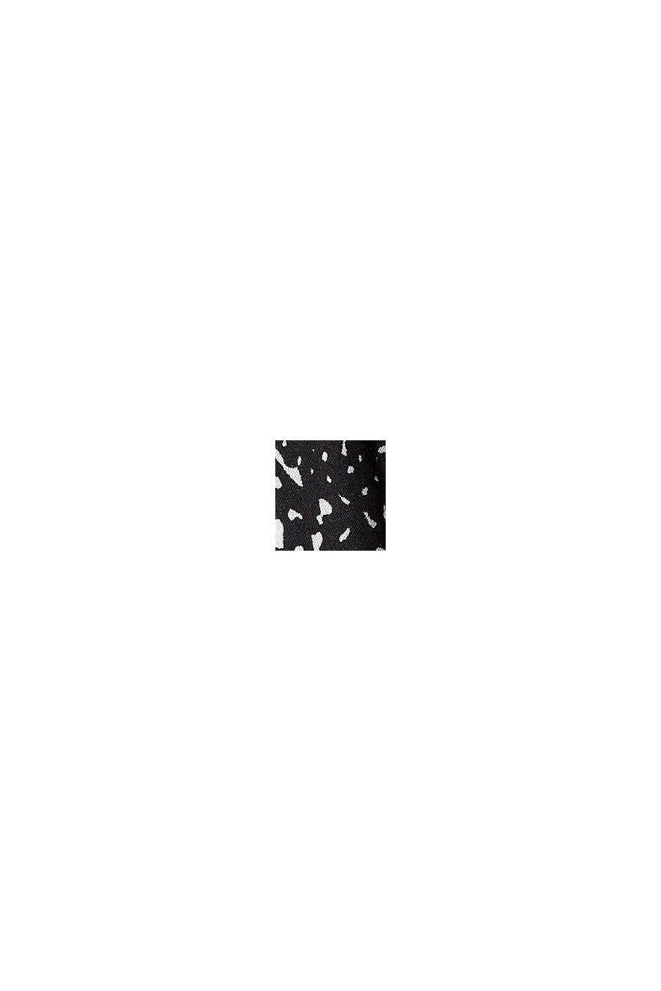 Robe longueur midi à imprimé, LENZING™ ECOVERO™, BLACK, swatch