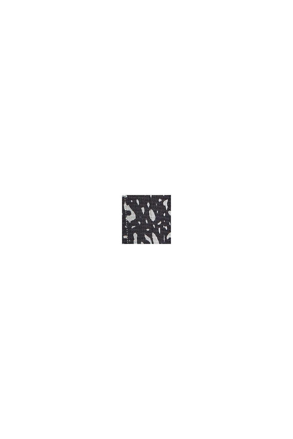 Chiffon blouse met print en volants, BLACK, swatch