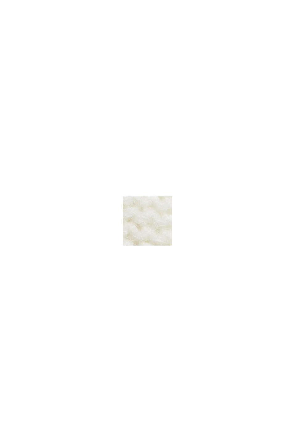 Mit Wolle: Pullover mit Zopfstrickmuster, OFF WHITE, swatch