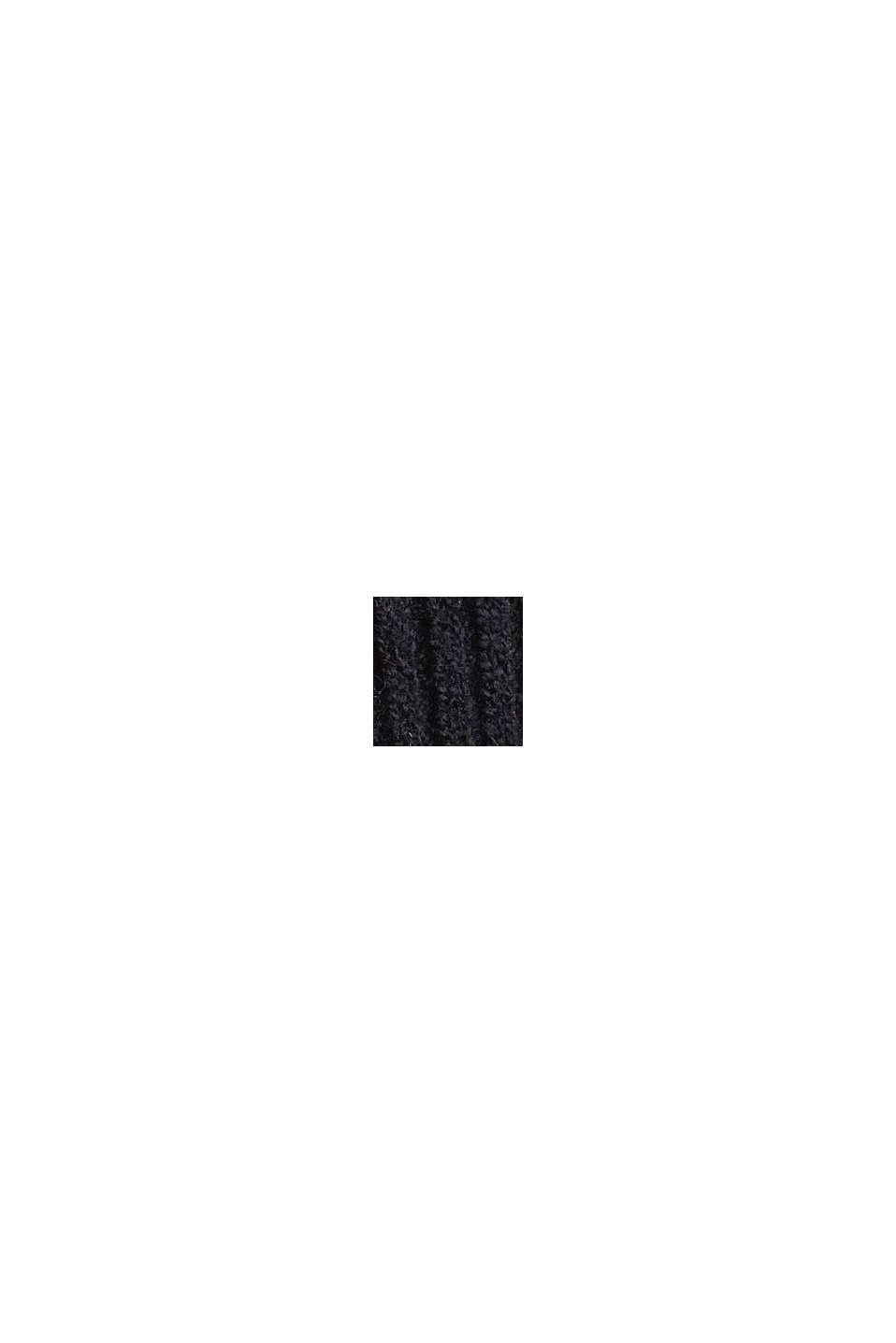 À teneur en laine: le pull-over à manches ballon, BLACK, swatch