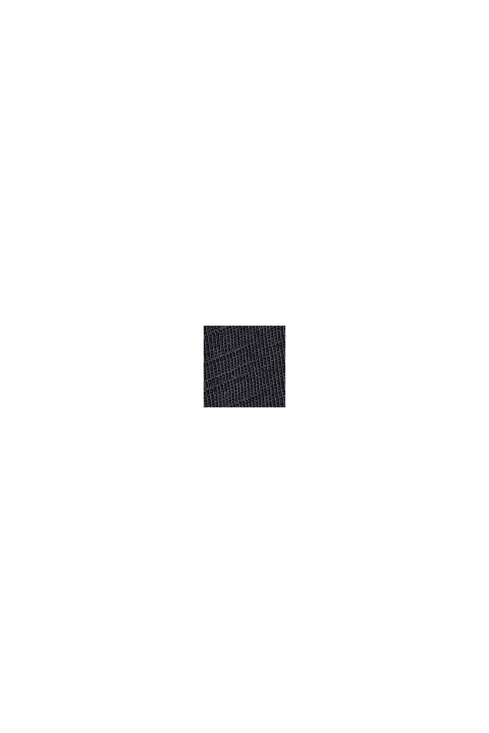 Longsleeve mit Metallic-Print, Organic Cotton, BLACK, swatch
