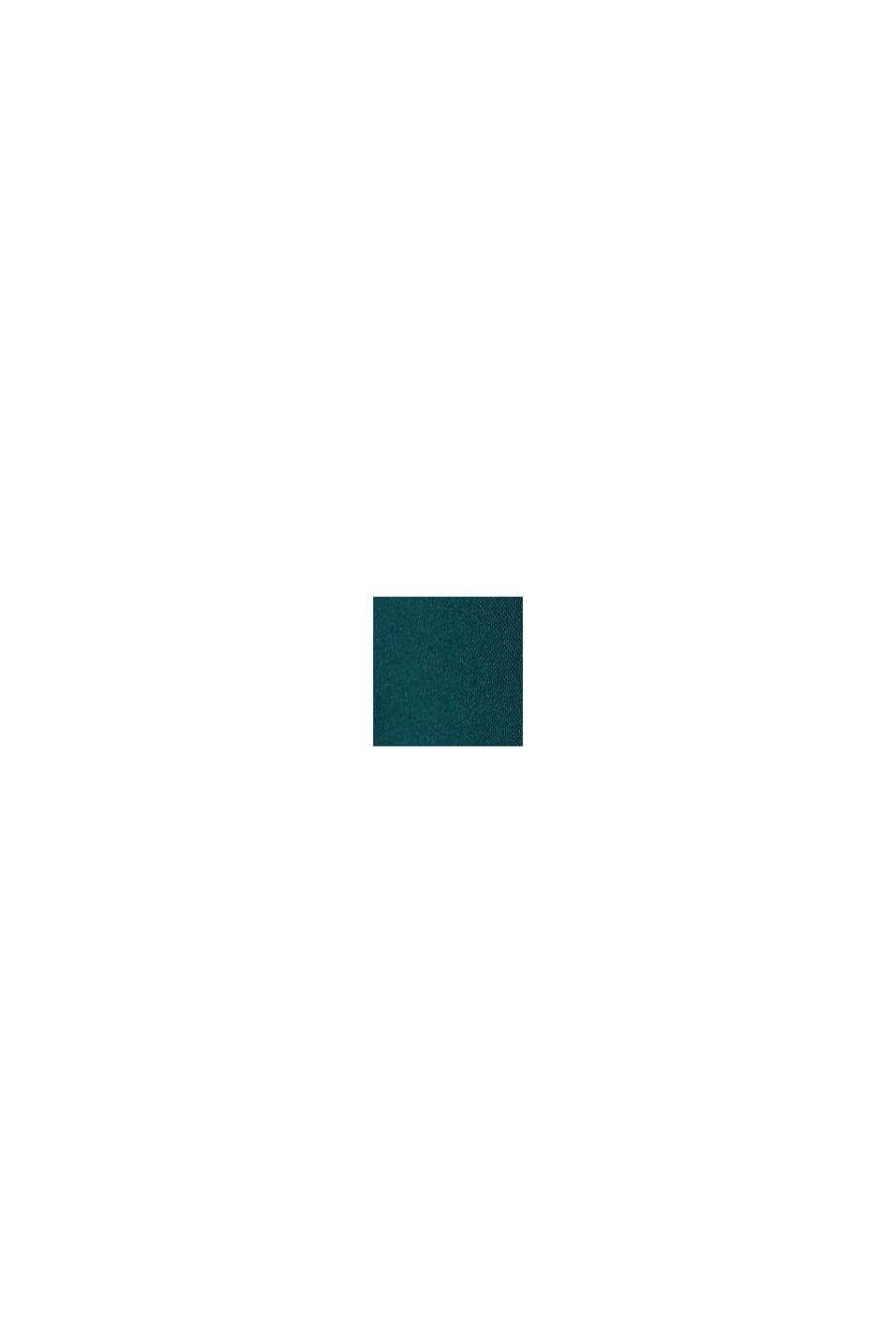 Top met kant, LENZING™ ECOVERO™, DARK TEAL GREEN, swatch