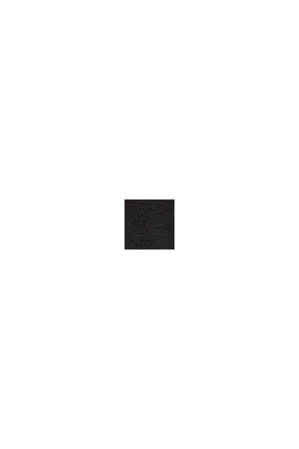 Con lana: gilet lungo, BLACK, swatch