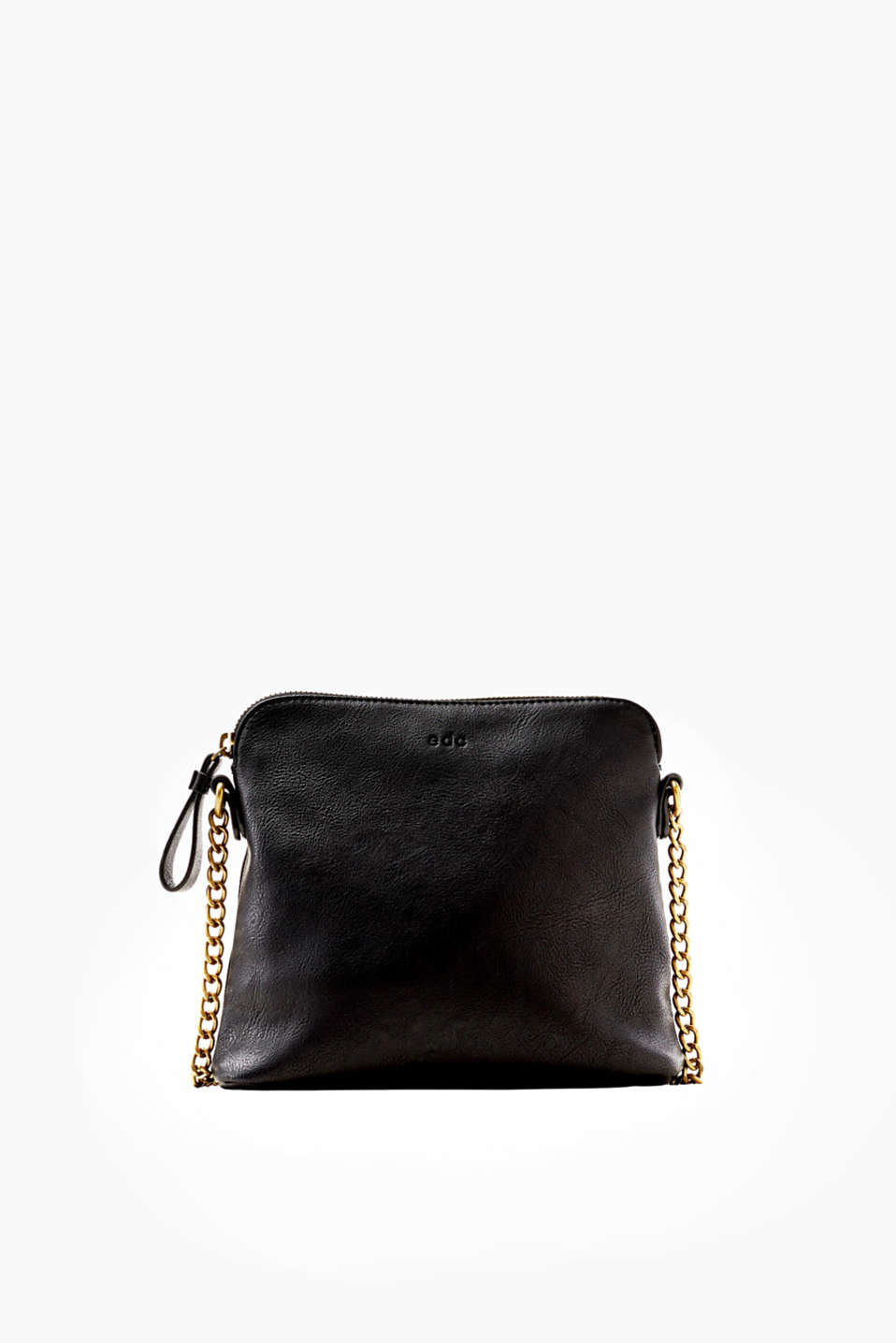 edc - Metallic shoulder bag with a chain