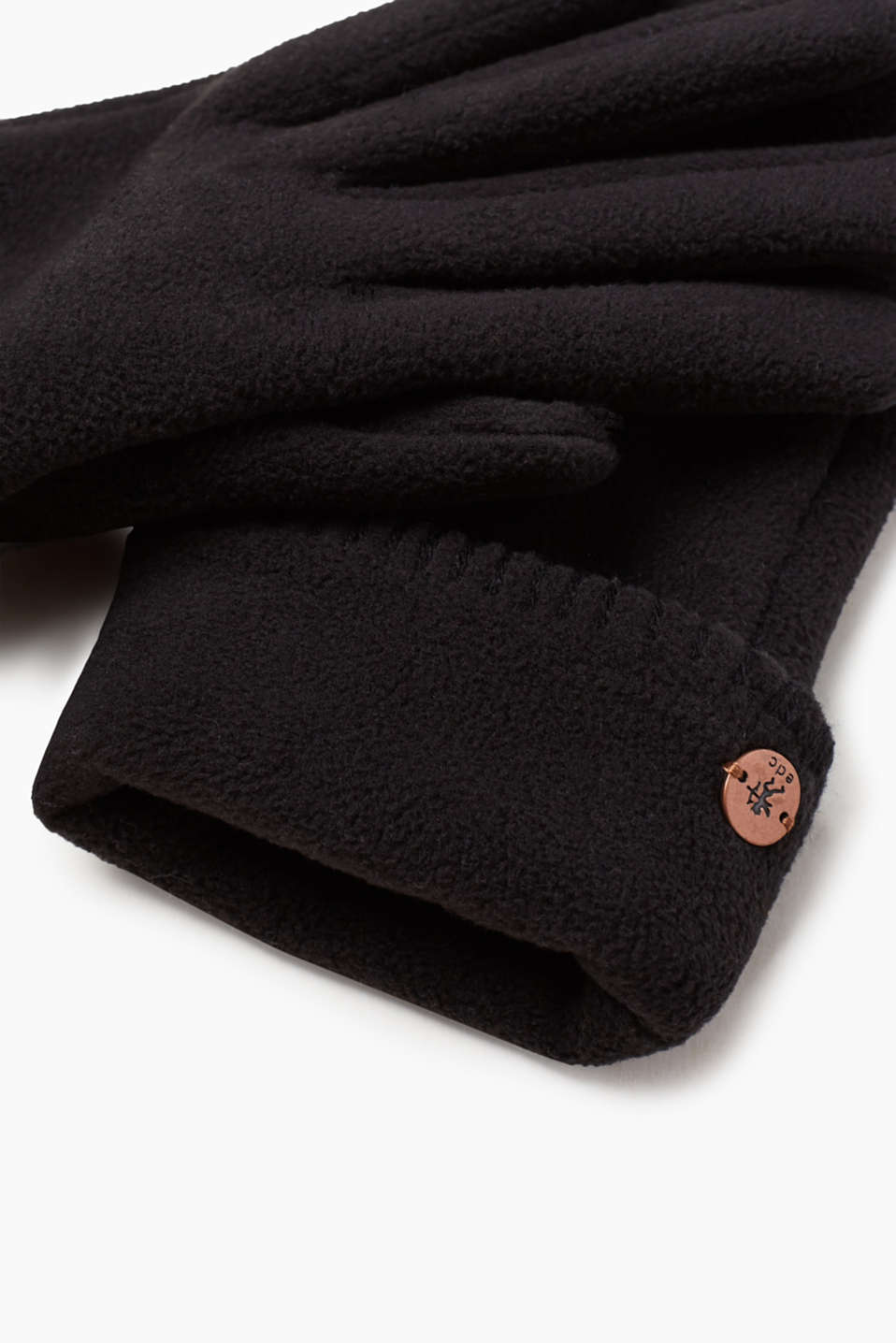 Fleece gloves with teddy lining