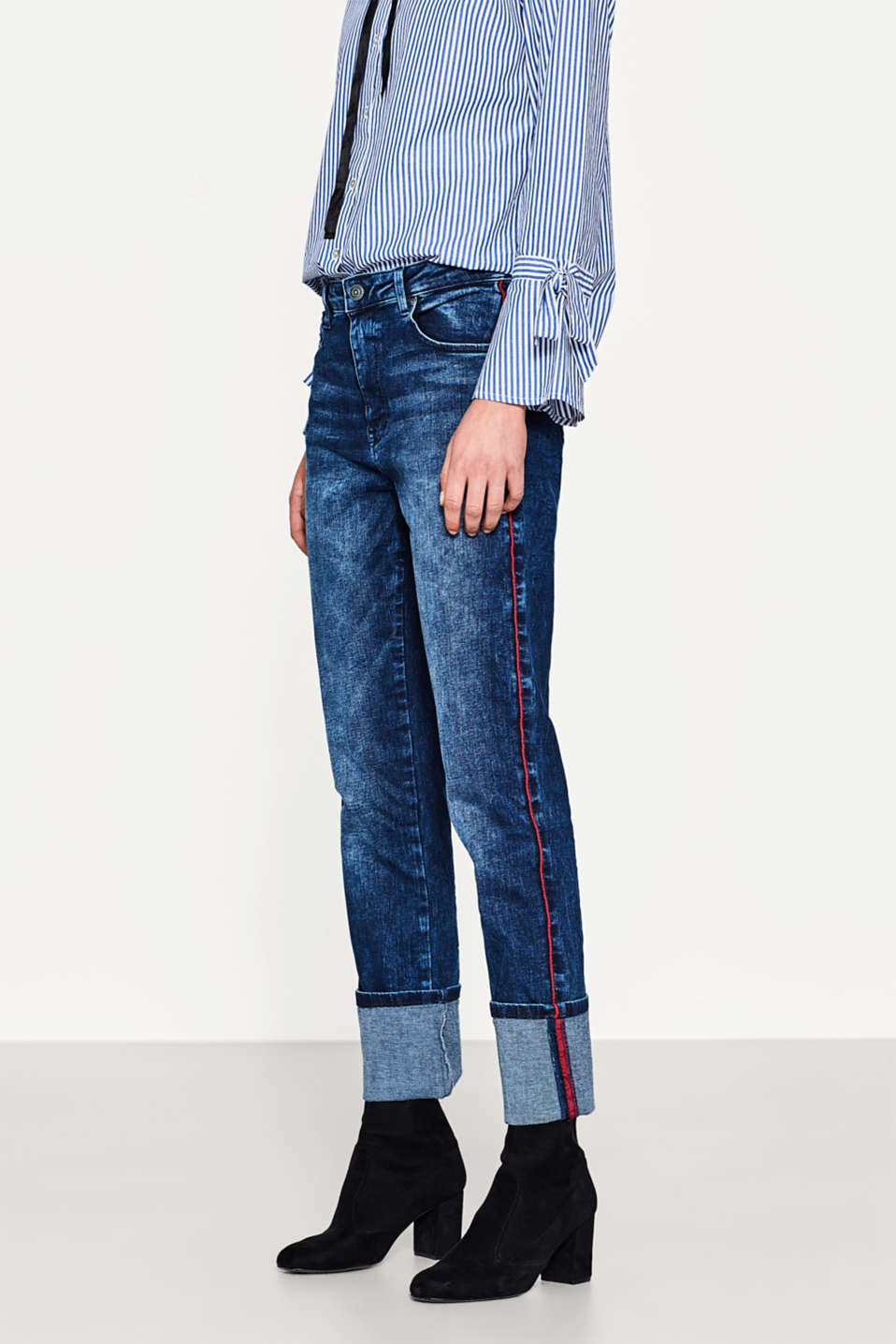 edc - Stretch jeans with piping