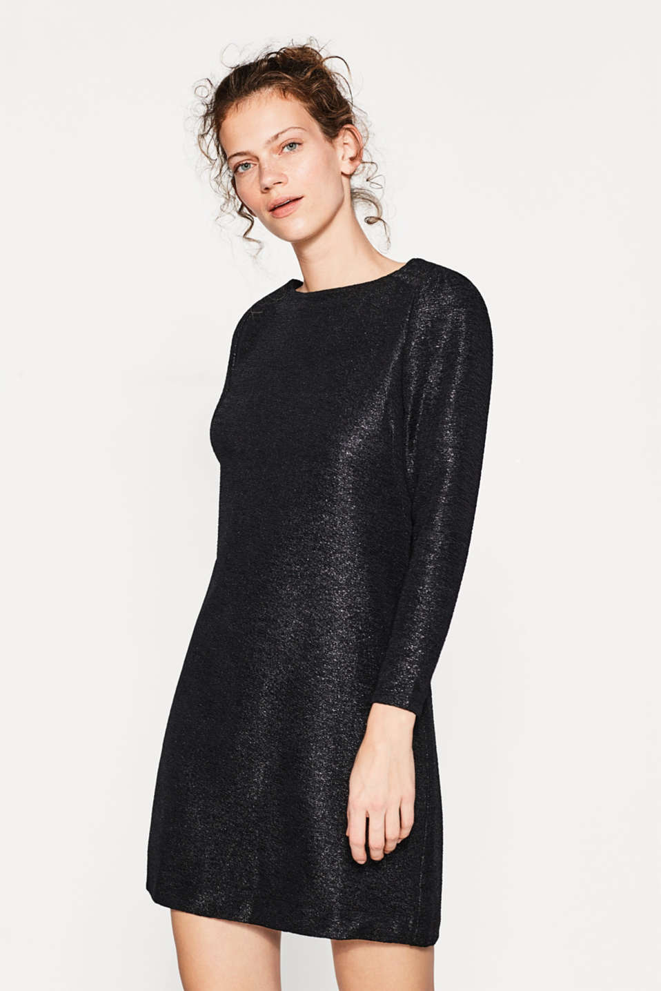 edc - Gecrashtes Party-Kleid mit Lurex im Online Shop kaufen