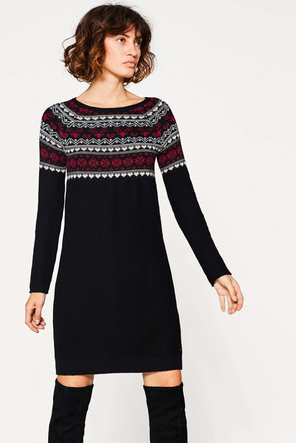 edc robe pull jacquard en coton acheter sur la boutique en ligne. Black Bedroom Furniture Sets. Home Design Ideas