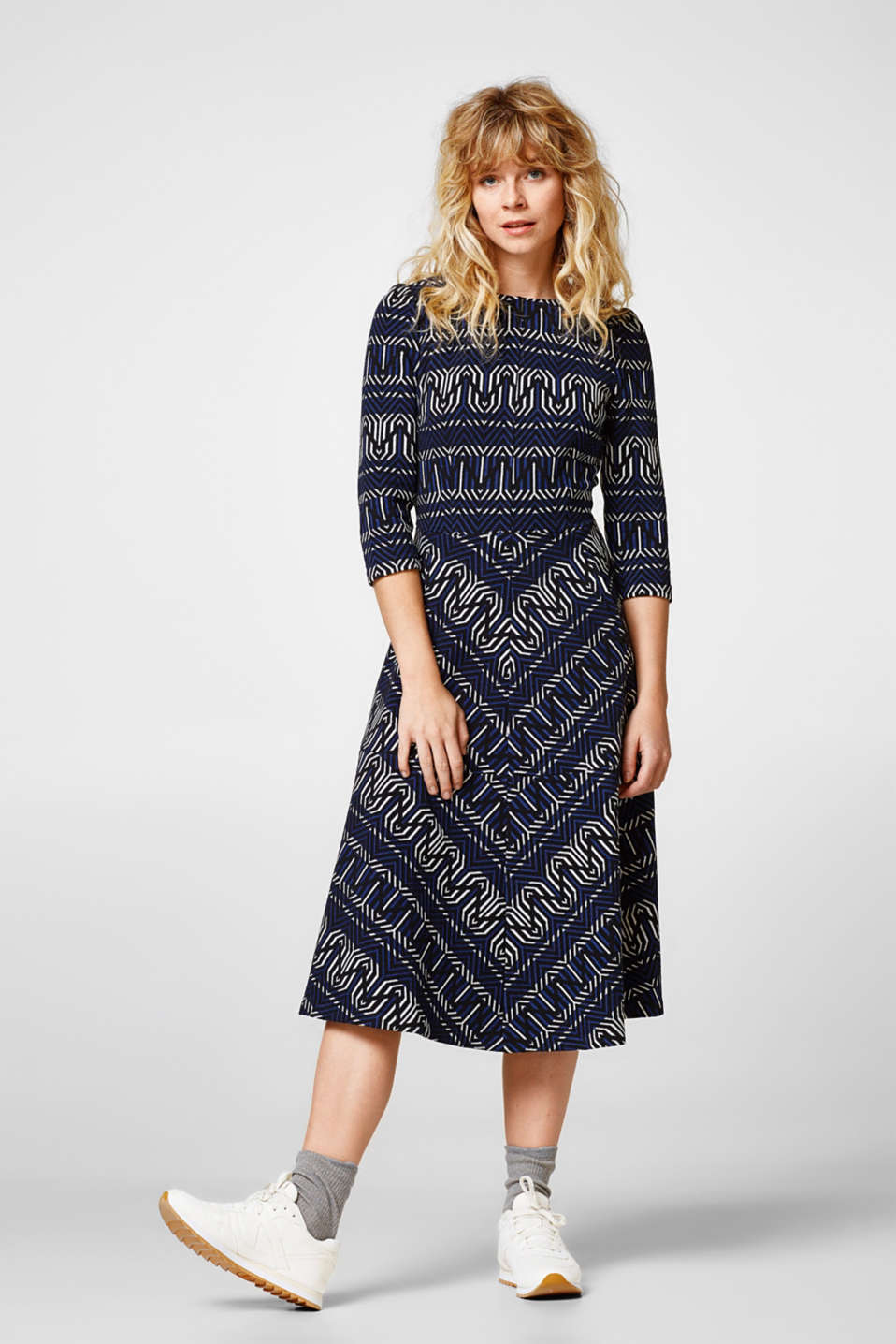 edc - Jacquard dress in heavy jersey