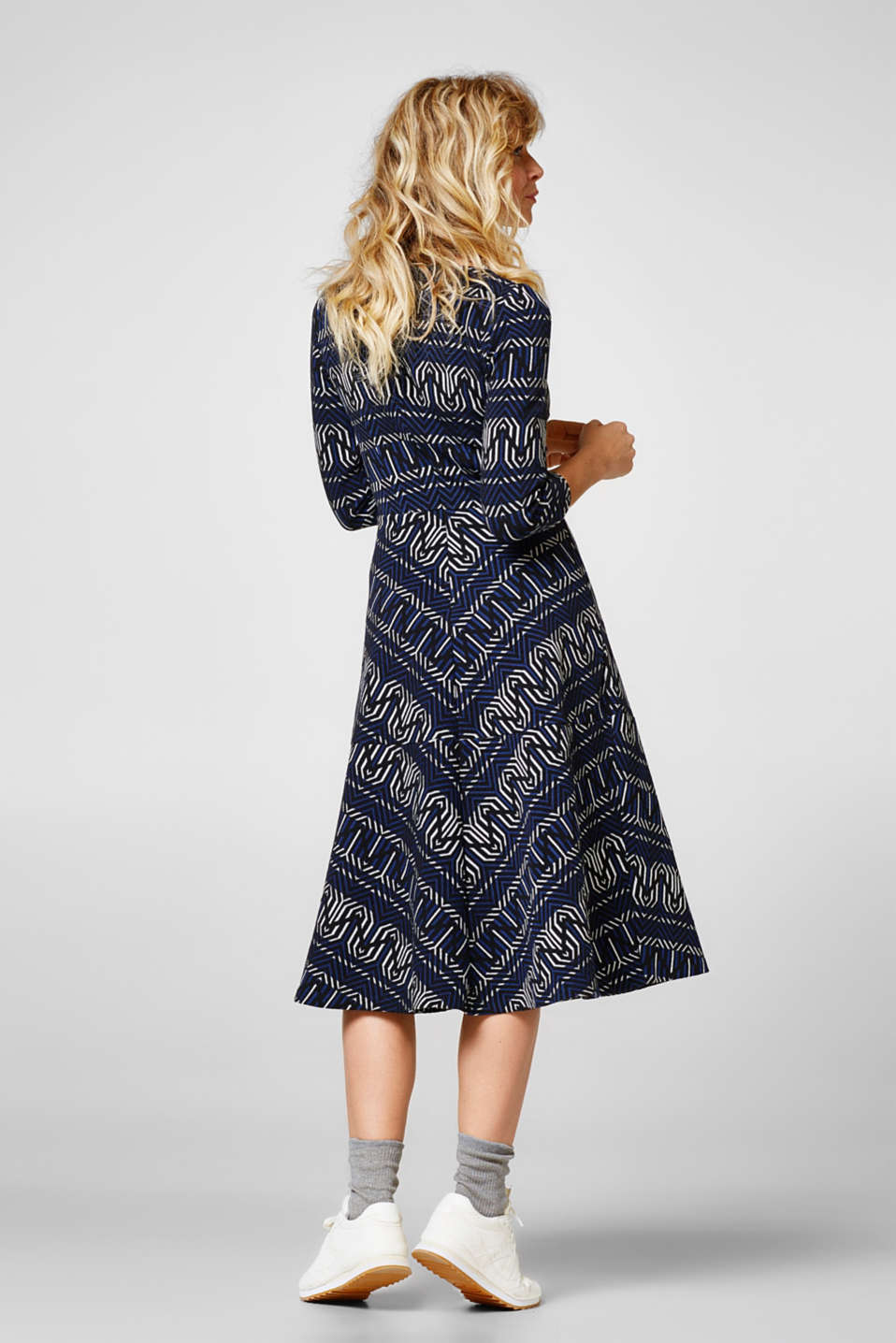 Jacquard dress in heavy jersey