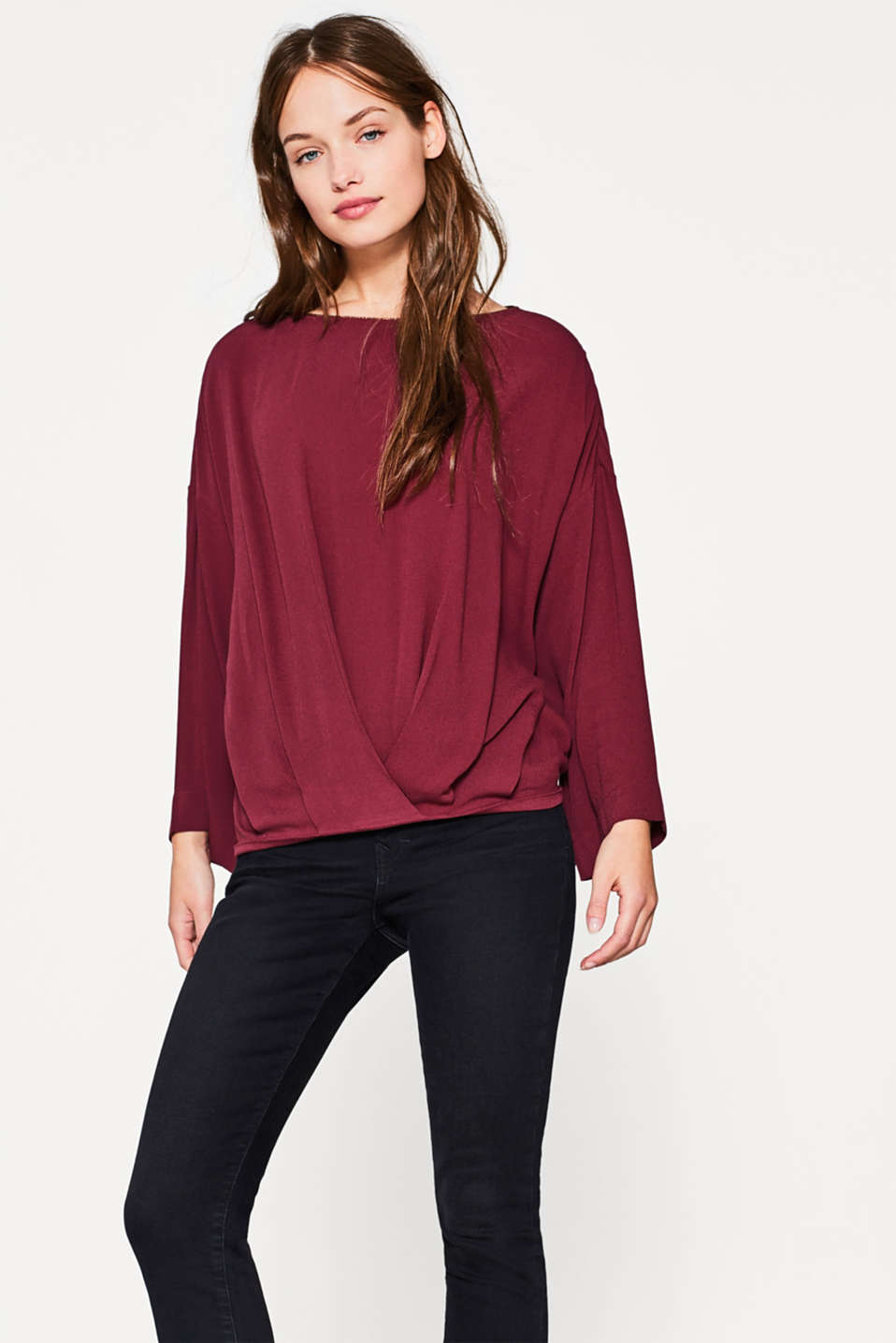 edc - Fluid blouse with draped pleat details