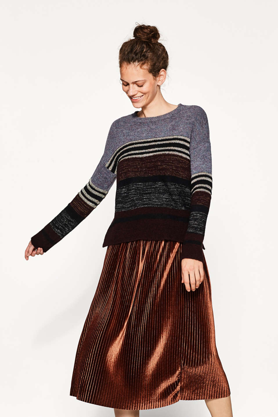 edc - Striped jumper with lurex