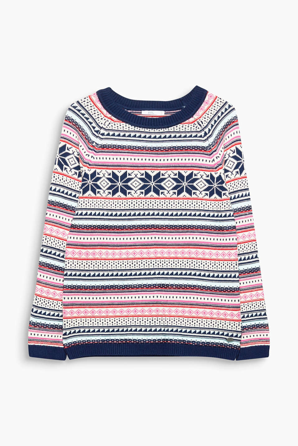 You so need to have this soft jumper with a vibrantly coloured jacquard pattern at the ready for an upbeat winter look!