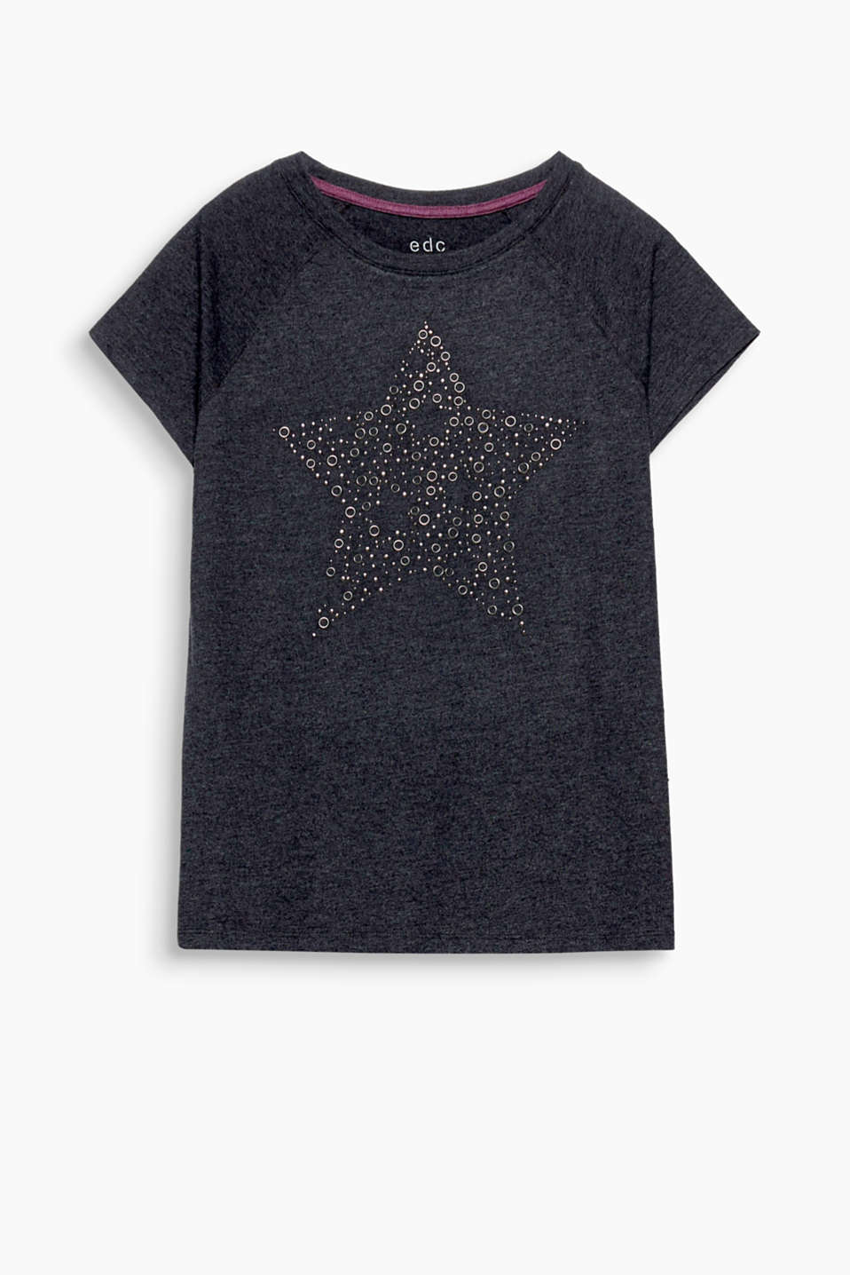 You are the star! L´inserto borchiato a forma di stella dona a questa t-shirt in misto cotone un tocco di stile.