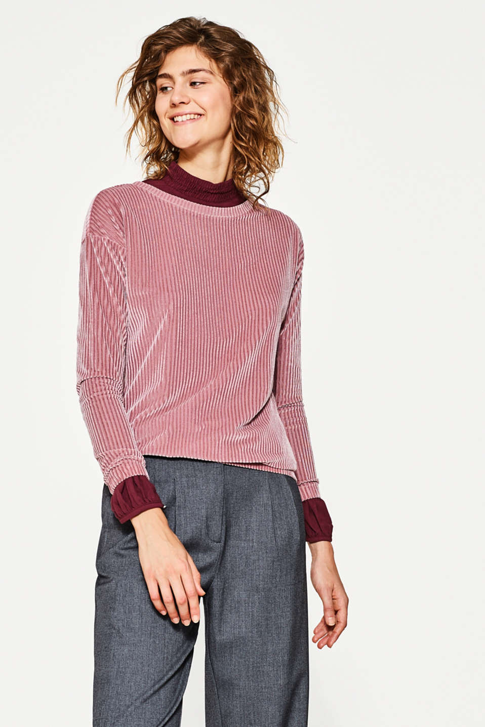 edc - Velvet top with a ribbed texture