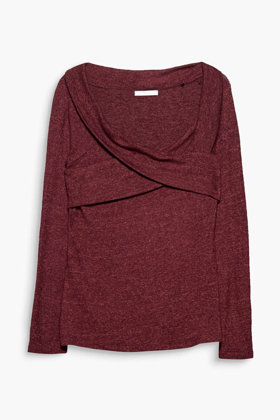 The trend of the summer made suitable for winter: off-shoulder top in super soft, warm stretch jersey.
