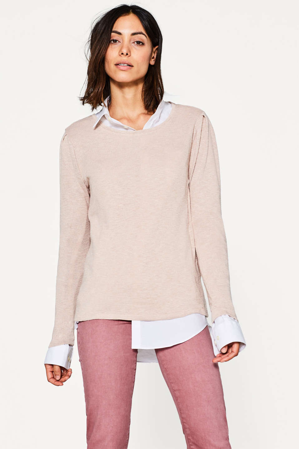 edc - Long sleeve top + gathered sleeves