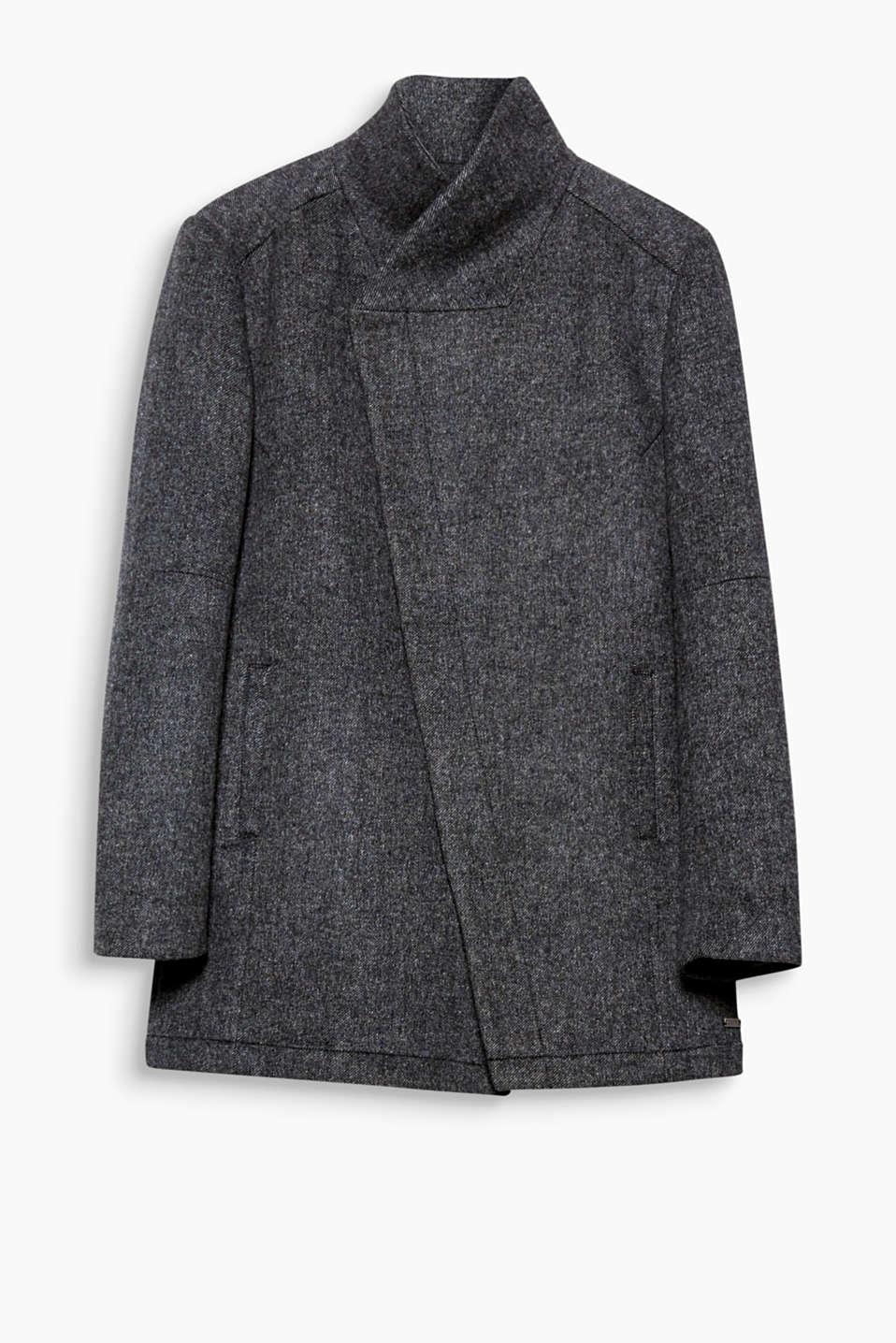 Edc manteau asym trique en laine acheter sur la - Acheter laine xxl ...
