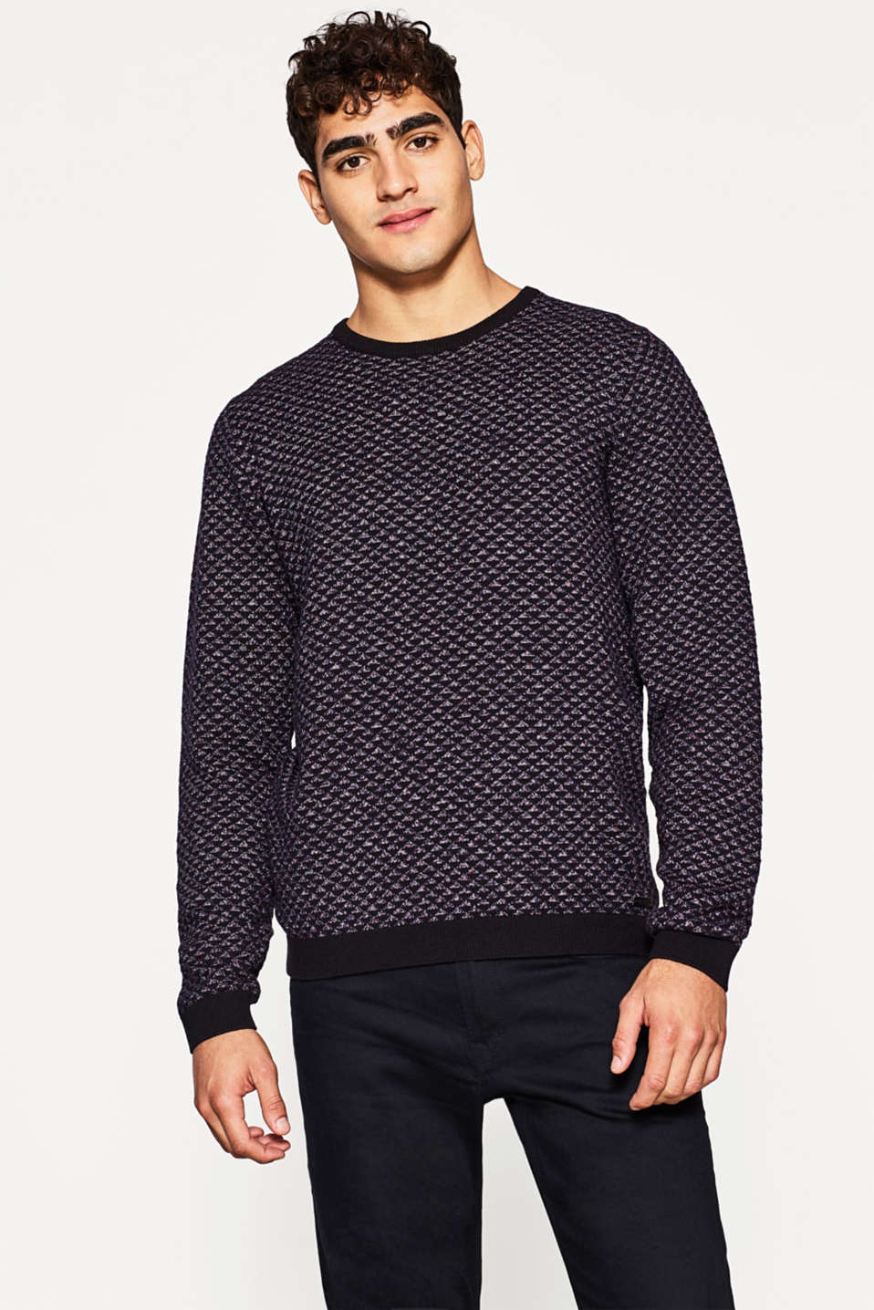 edc - Cotton jacquard jumper
