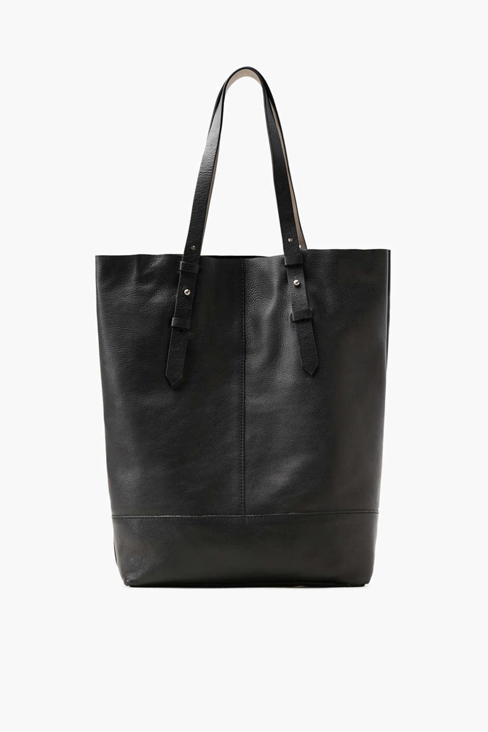 esprit zeitlose tote bag aus leder im online shop kaufen. Black Bedroom Furniture Sets. Home Design Ideas