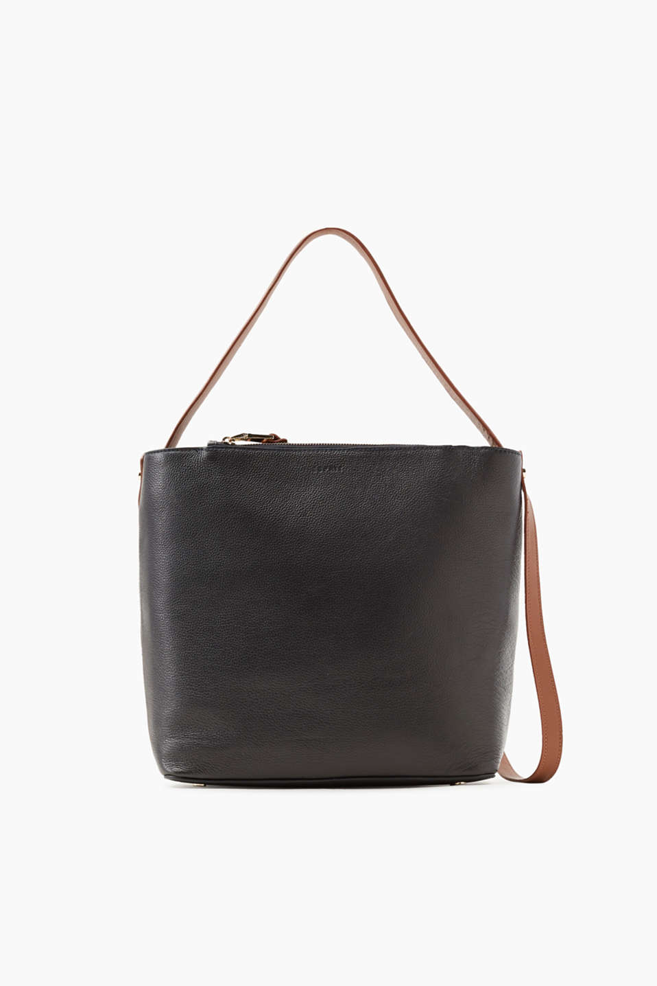 Esprit - Two-tone leather shoulder bag