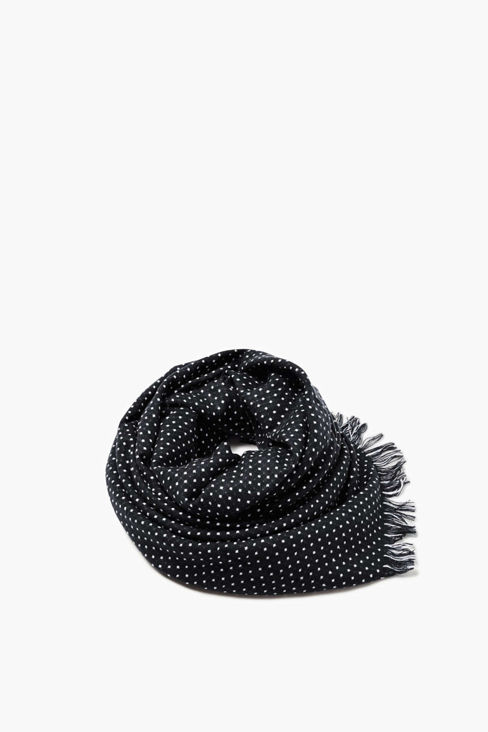 Esprit - Polka dot scarf in a wool look