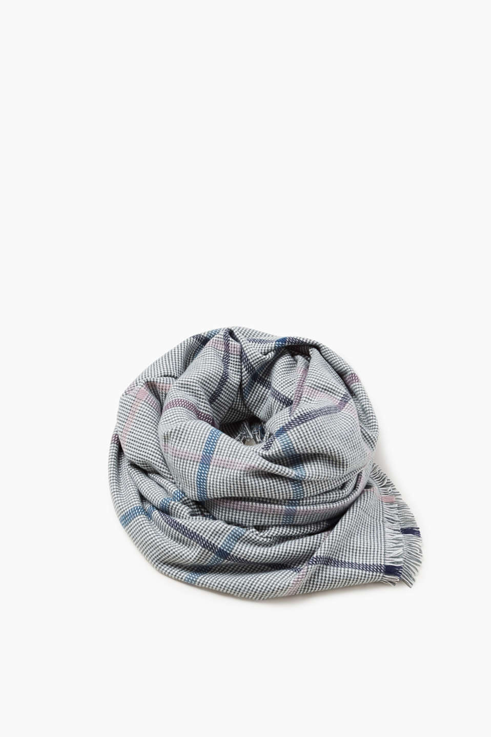 Esprit - Oversized scarf with a check pattern
