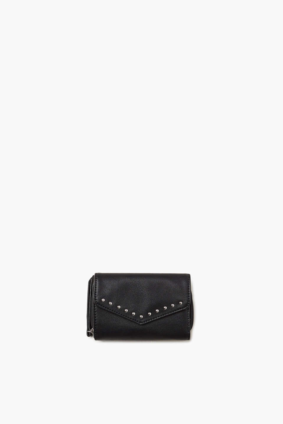 Purse designed in a functional format with rock chick stud decoration for a stylish, eye-catching piece.